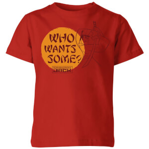 Samurai Jack Who Wants Some Kids' T-Shirt - Red