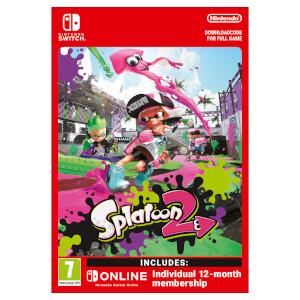 Splatoon 2 + Nintendo Switch Online 12 Months (Individual) - Digital Download