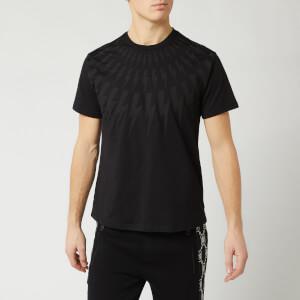 Neil Barrett Men's Fairisle Thunderbolt Bolt T-Shirt - Black