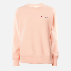 Champion Women's Small Script Crew Neck Sweatshirt - Pink