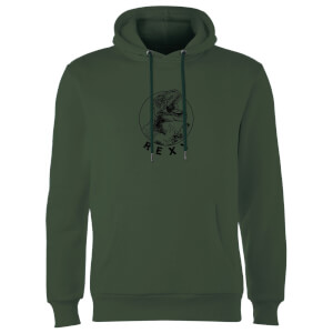 How Ridiculous Rexy Hoodie - Forest Green