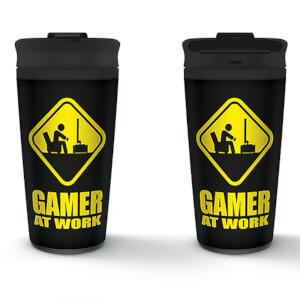 Gamer At Work Metal Travel Mug