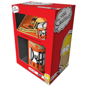 The Simpsons (Duff) Mug, Coaster and Keychain Set