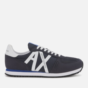 Armani Exchange Men's Retro Running Style Trainers - Navy/Optical White