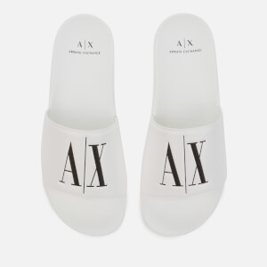 Armani Exchange Men's Slide Sandals - White