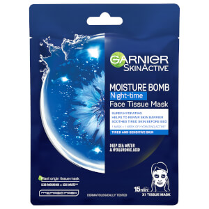 Garnier Moisture Bomb Deep Sea Water & Hyaluronic Acid Tissue Mask Night 32g