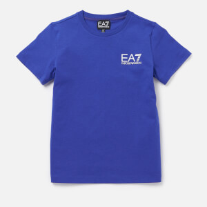 Emporio Armani EA7 Boys' Small Logo Short Sleeve T-Shirt - Mazarine Blue