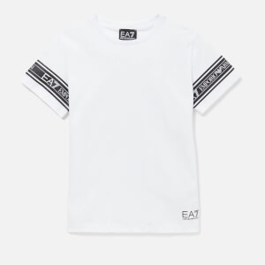 Emporio Armani EA7 Boy's Taping Short Sleeve T-Shirt - White