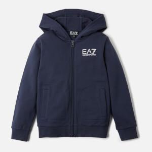 Emporio Armani EA7 Boy's Full Zip Hoody - Navy