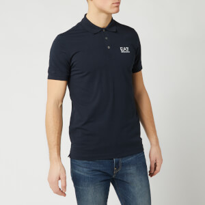 Emporio Armani EA7 Men's Short Sleeve Small Logo Polo Shirt - Night Blue
