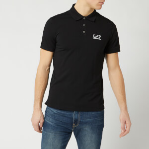 Emporio Armani EA7 Men's Short Sleeve Small Logo Polo Shirt - Black
