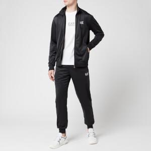 Emporio Armani EA7 Men's Full Zip Collared Tracksuit - Black