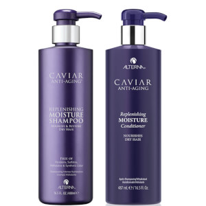 Alterna Caviar Anti-Ageing Replenishing Moisture Shampoo and Conditioner 16.5 oz (Worth $104)