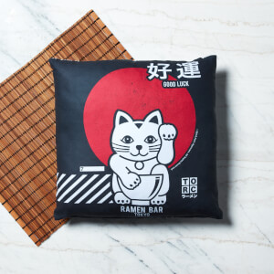 Ramen Lucky Cat Square Cushion