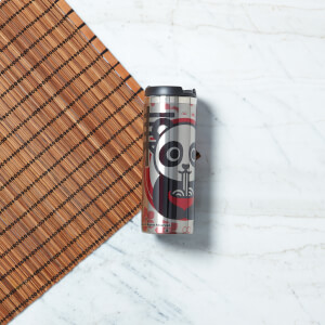 Ramen Panda Floral Stainless Steel Travel Mug - Metallic Finish