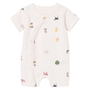 Joules Baby The Romper - White Farm Print