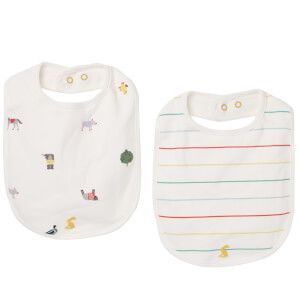 Joules Baby The Bib - White Farm Print (2 Pack)