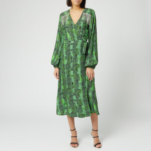 ROTATE Birger Christensen Women's Kira Midi Dress - Stone Green