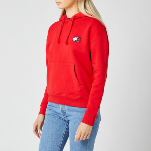 Tommy Jeans Women's TJW Tommy Badge Hoody - Deep Crimson
