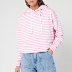 Tommy Jeans Women's TJW Stripe Hoody - Pink Daisy/White