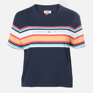 Tommy Jeans Women's TJW Stripe Logo T-Shirt - Twilight Navy