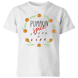 Pumpkin Spice Latte Is Life Kids' T-Shirt - White