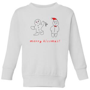 Merry Kissmas Kids' Sweatshirt - White