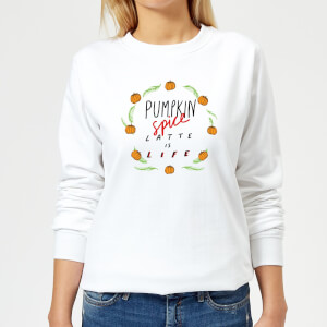 Pumpkin Spice Latte Is Life Women's Sweatshirt - White
