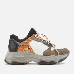 Bronx Women's Baisley Chunky Trainers - Dark Grey/White/Black/Orange