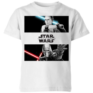 Camiseta The Rise of Skywalker Rey Vs Kylo - Niño - Blanco