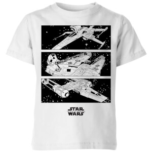 Camiseta The Rise of Skywalker Resistance Ships - Niño - Blanco
