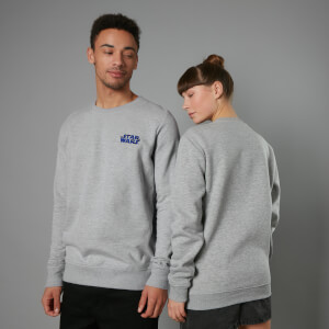 The Rise of Skywalker Logo Embroidered Unisex Sweatshirt - Grey
