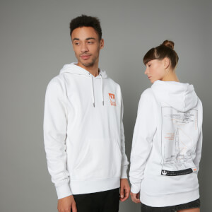 The Rise of Skywalker X-Wing Schematic Unisex Hoodie - White
