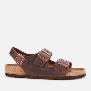 Birkenstock Men's Milano Oiled Leather Double Strap Sandals - Habana