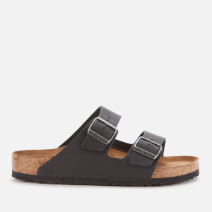 Birkenstock Men's Arizona Oiled Leather Double Strap Sandals - Black