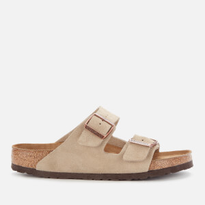 Birkenstock Men's Arizona Sfb Suede Double Strap Sandals - Taupe