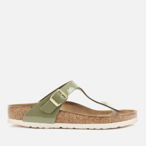 Birkenstock Women's Gizeh Patent Toe-Post Sandals - Khaki