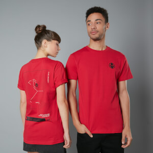 The Rise of Skywalker Tie Fighter Schematic T-Shirt - Red