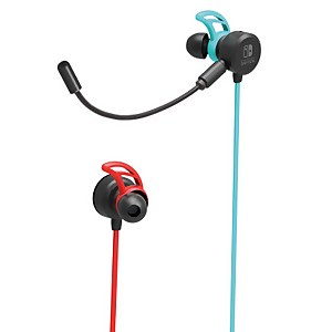 Nintendo Switch Gaming Earbuds (Wired) - Neon Blue / Neon Red
