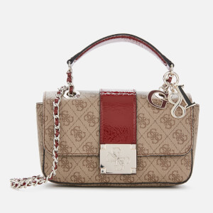 Guess Women's Logo City Small Convertible Cross Body Bag - Brown/Multi