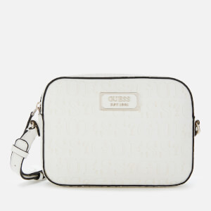 Guess Women's Kamryn Cross Body Bag Top Zip - White