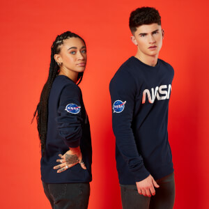Sweat-Shirt NASA Logo Metallique - Bleu Marine - Unisexe