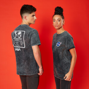 NASA 1969 Unisex T-Shirt - Black Acid Wash