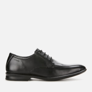 Clarks Men's Bensley Run Leather Derby Shoes - Black
