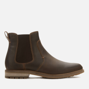 Clarks Men's Foxwell Top Leather Chelsea Boots - Beeswax