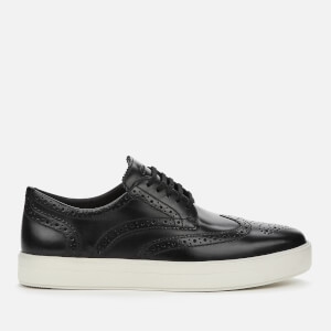 Clarks Men's Hero Limit Leather Brogue Trainers - Black