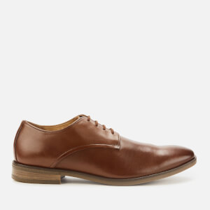 Clarks Men's Stanford Walk Leather Derby Shoes - Tan