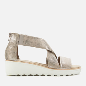 Clarks Women's Jillian Rise Wedged Sandals - Pewter