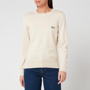 A.P.C. Women's Logo Sweatshirt - Ecru