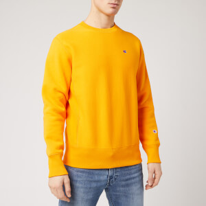 Champion Men's Logo Crew Neck Sweatshirt - Yellow
